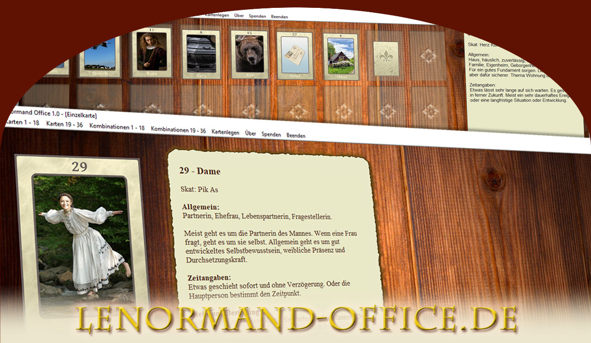Lenormand Kartenlegen PC Windows Software kostenlos